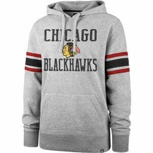 47 NHL CHICAGO BLACKHAWKS DOUBLE BLOCK SLEEVE STRIPE HOOD  L - Mikina
