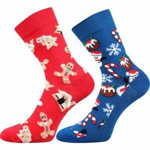 Lonka VÁNOČNÍ SNĚHULÁK 2P  23-25 - Ponožky