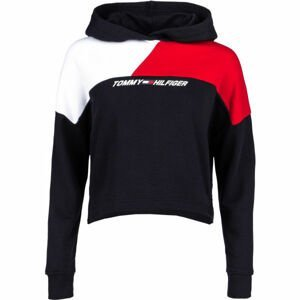 Tommy Hilfiger RELAXED COLOUR BLOCK HOODIE LS  L - Dámská mikina