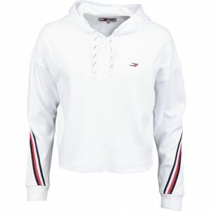 Tommy Hilfiger RELAXED DOUBLE PIQUE HOODIE LS  S - Dámská mikina