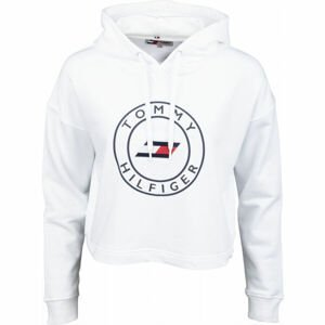 Tommy Hilfiger RELAXED ROUND GRAPHIC HOODIE LS  S - Dámská mikina