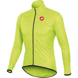 Castelli SQUADRA LONG JACKET žlutá S - Pánská cyklistická bunda