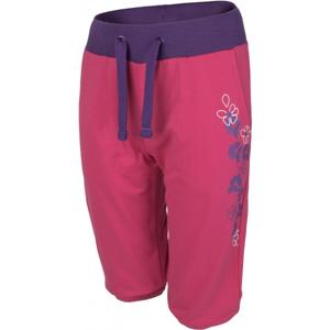 Lewro GISA 140 - 170 růžová 164-170 - Dívčí tříčtvrteční kalhoty